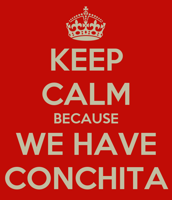 KEEP CALM BECAUSE WE HAVE CONCHITA