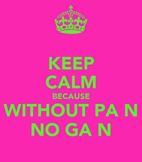 KEEP CALM BECAUSE WITHOUT PAİN NO GAİN
