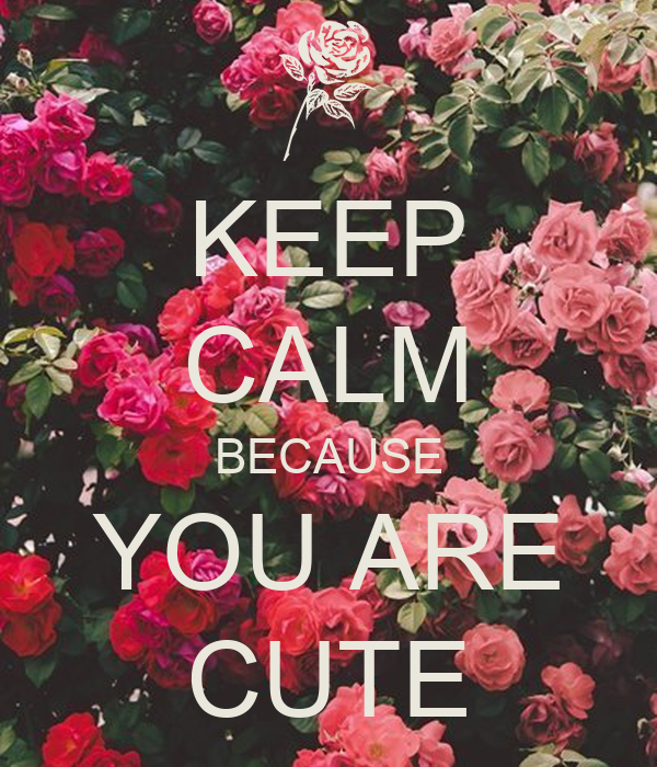 KEEP CALM BECAUSE YOU ARE CUTE