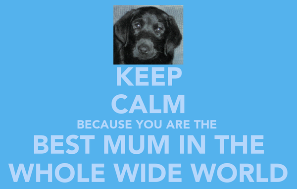 KEEP CALM BECAUSE YOU ARE THE  BEST MUM IN THE WHOLE WIDE WORLD