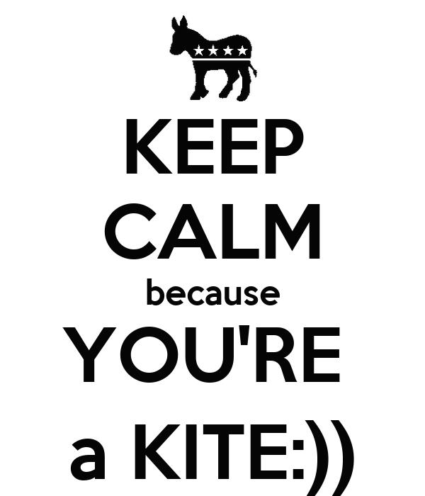 KEEP CALM because YOU'RE  a KITE:))