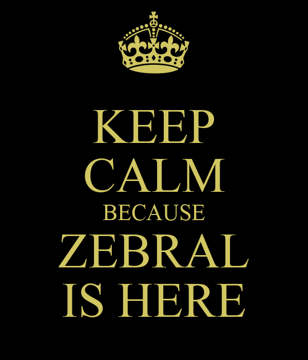 KEEP CALM BECAUSE ZEBRAL IS HERE