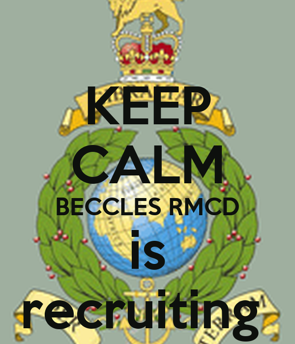 KEEP CALM BECCLES RMCD is recruiting