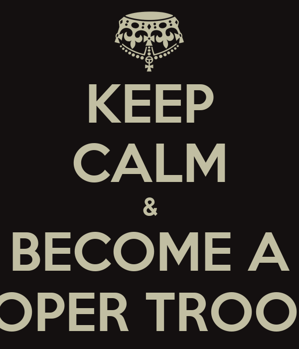 how to become a trooper