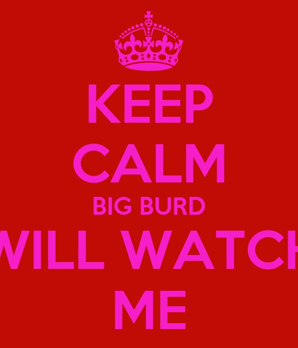 KEEP CALM BIG BURD WILL WATCH ME