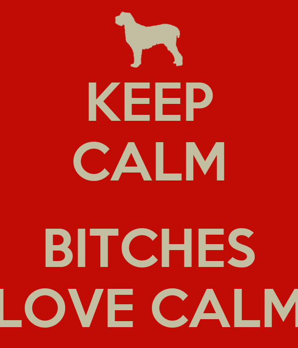 KEEP CALM  BITCHES LOVE CALM