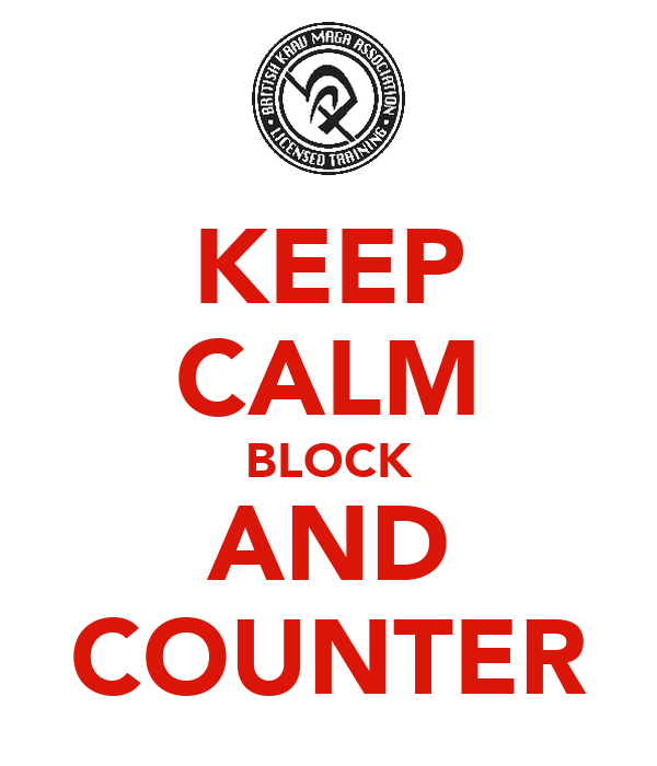 KEEP CALM BLOCK AND COUNTER