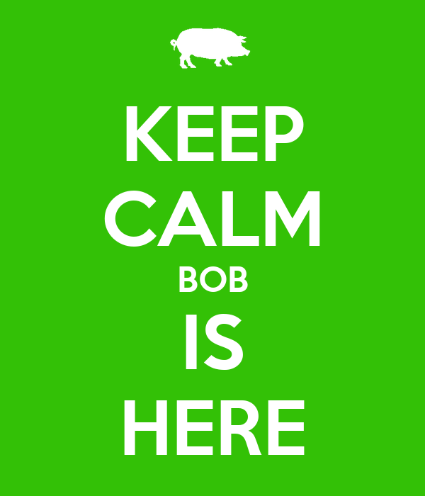 KEEP CALM BOB IS HERE