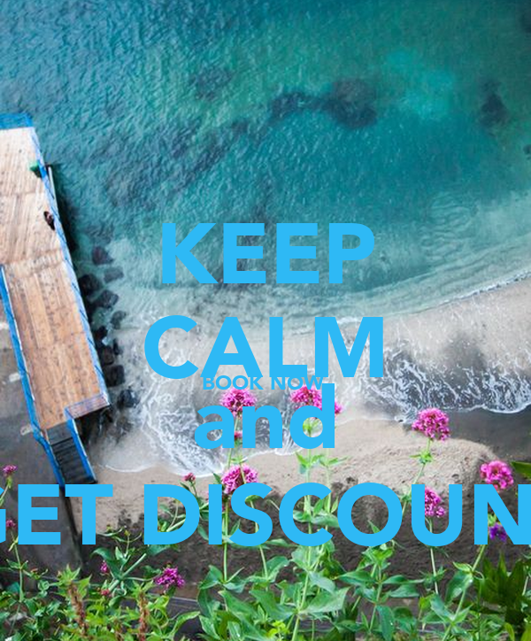KEEP CALM BOOK NOW  and GET DISCOUNT