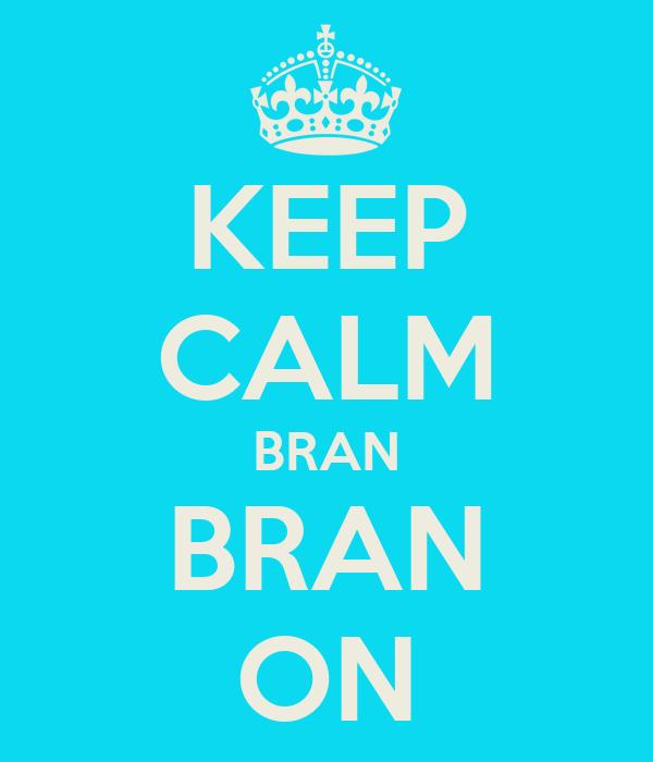 KEEP CALM BRAN BRAN ON