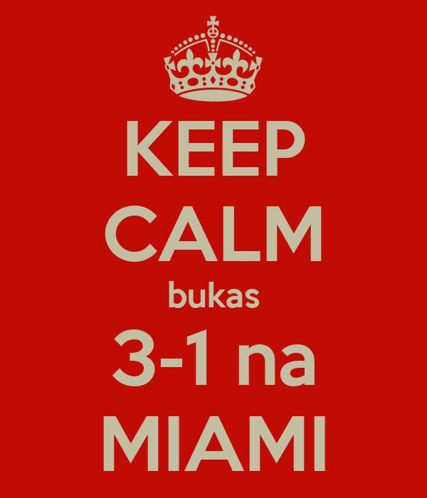 KEEP CALM bukas 3-1 na MIAMI