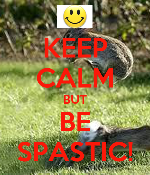 KEEP CALM BUT BE SPASTIC!