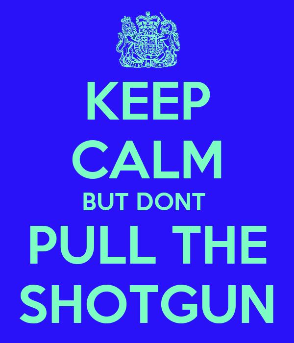 KEEP CALM BUT DONT  PULL THE SHOTGUN