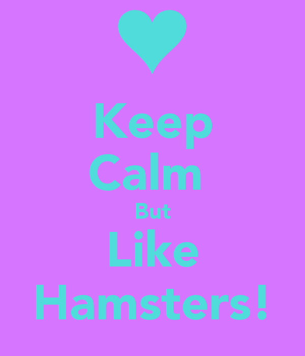 Keep Calm  But Like Hamsters!