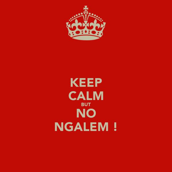 KEEP CALM BUT NO NGALEM !