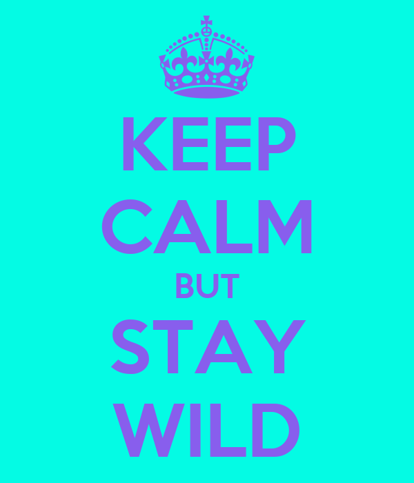KEEP CALM BUT STAY WILD