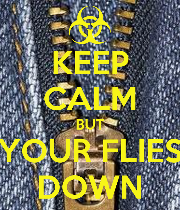KEEP CALM BUT YOUR FLIES DOWN