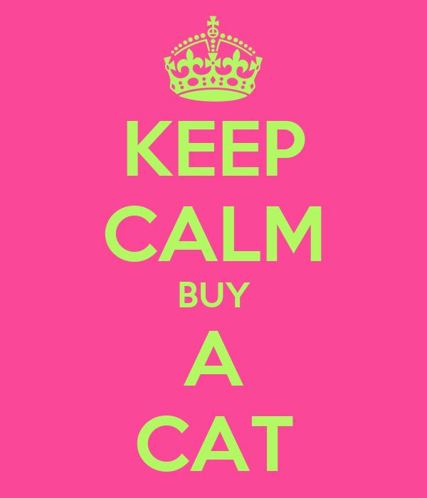 KEEP CALM BUY A CAT