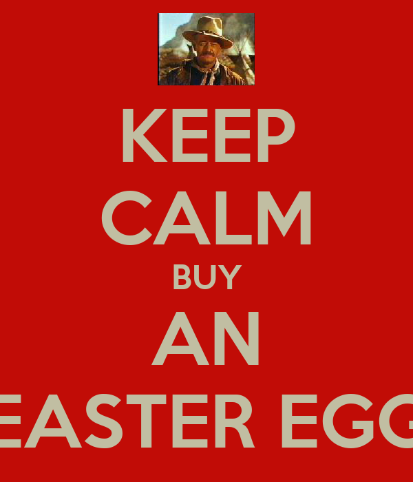 KEEP CALM BUY AN EASTER EGG