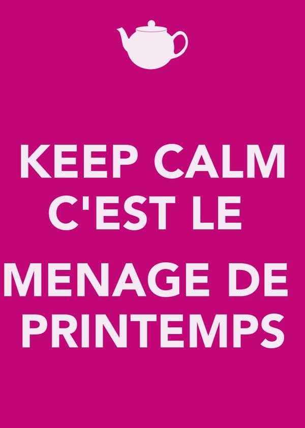 keep calm c 39 est le menage de printemps poster berr keep calm o matic. Black Bedroom Furniture Sets. Home Design Ideas