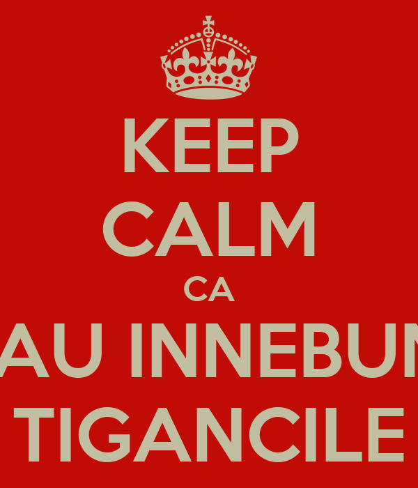 KEEP CALM CA M-AU INNEBUNIT TIGANCILE