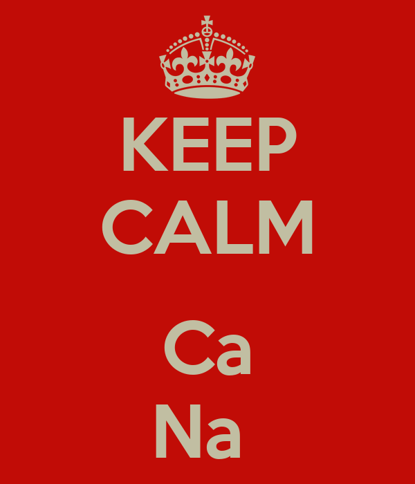 KEEP CALM   Ca Na