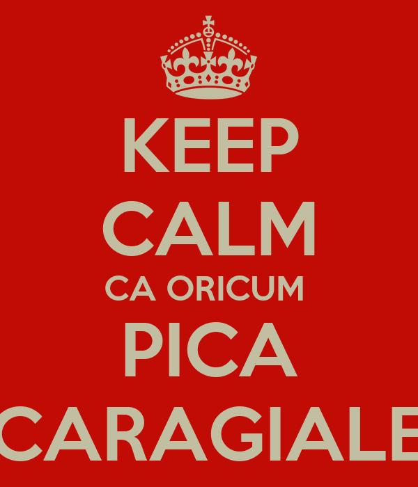 KEEP CALM CA ORICUM  PICA CARAGIALE