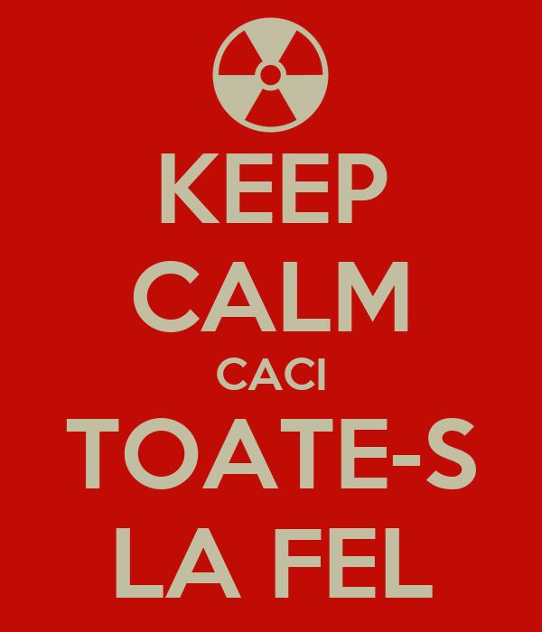 KEEP CALM CACI TOATE-S LA FEL
