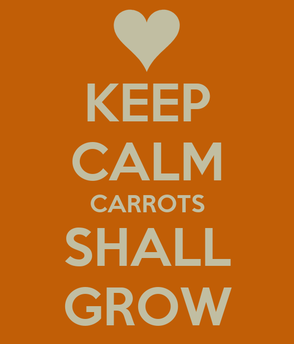 KEEP CALM CARROTS SHALL GROW