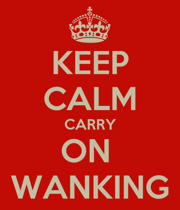 KEEP CALM CARRY ON  WANKING