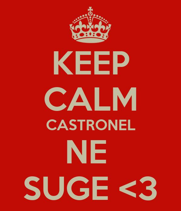 KEEP CALM CASTRONEL NE  SUGE <3