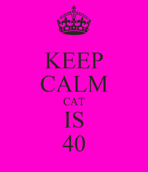 KEEP CALM CAT IS 40
