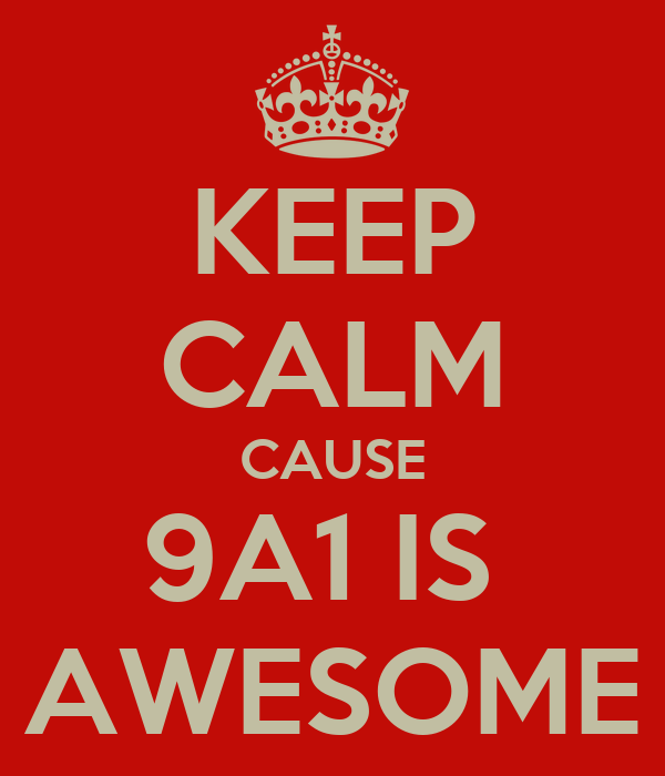KEEP CALM CAUSE 9A1 IS  AWESOME