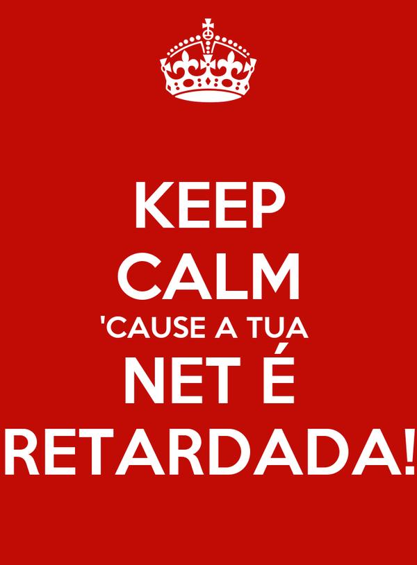 KEEP CALM 'CAUSE A TUA  NET É RETARDADA!