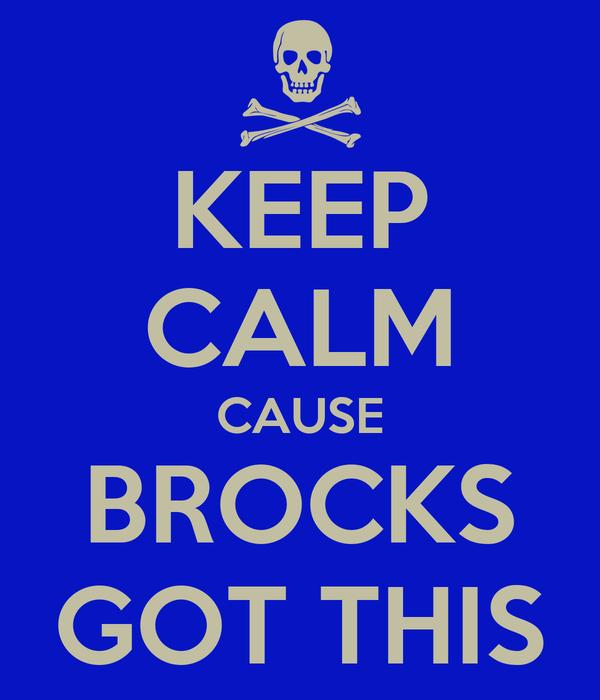 KEEP CALM CAUSE BROCKS GOT THIS