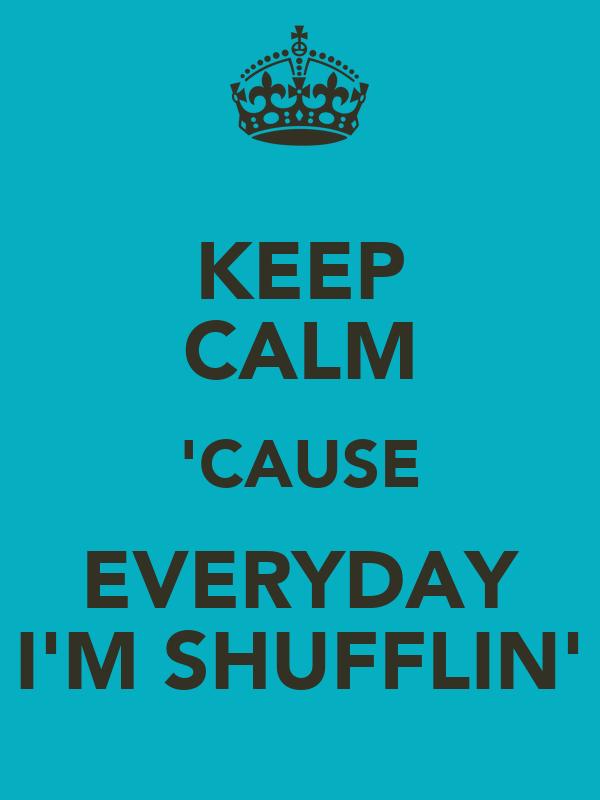 KEEP CALM 'CAUSE EVERYDAY I'M SHUFFLIN'