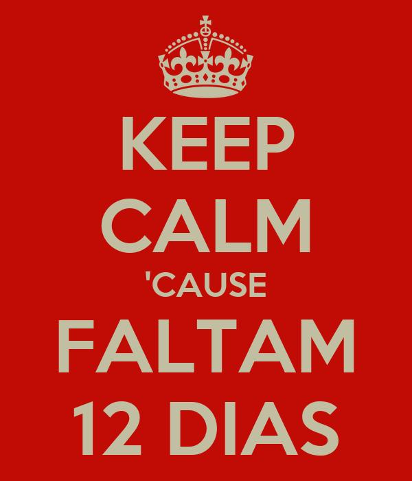 KEEP CALM 'CAUSE FALTAM 12 DIAS