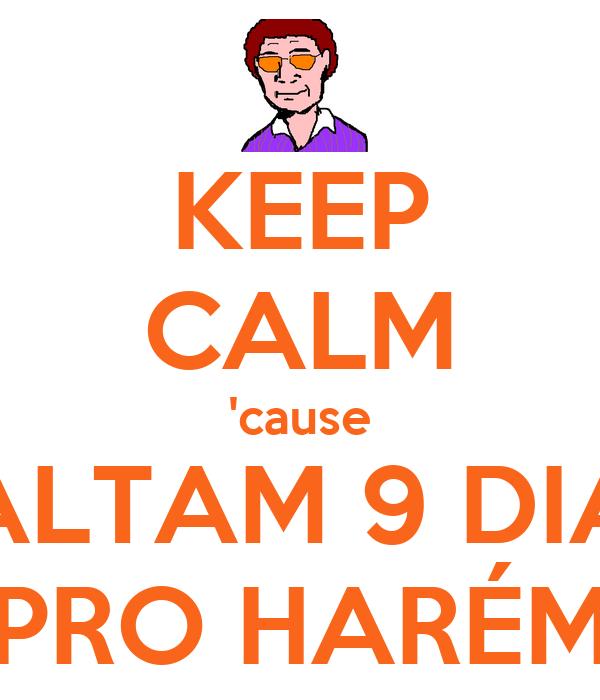 KEEP CALM 'cause FALTAM 9 DIAS PRO HARÉM