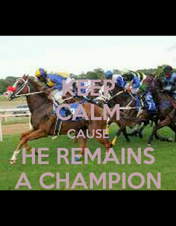 KEEP CALM CAUSE HE REMAINS A CHAMPION