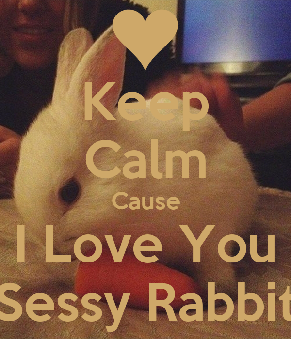 Keep Calm Cause I Love You Sessy Rabbit