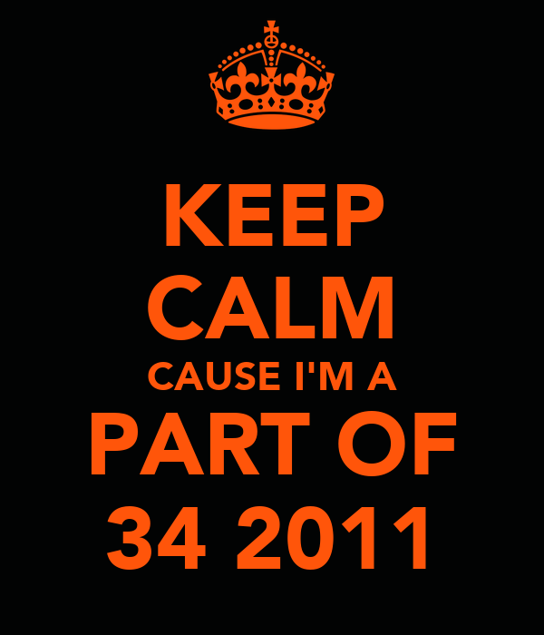 KEEP CALM CAUSE I'M A PART OF 34 2011