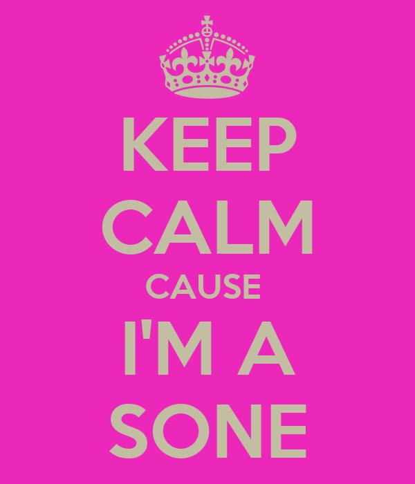 KEEP CALM CAUSE  I'M A SONE