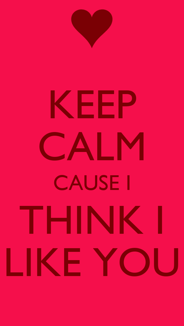 KEEP CALM CAUSE I THINK I LIKE YOU Poster | wfsbd | Keep ...