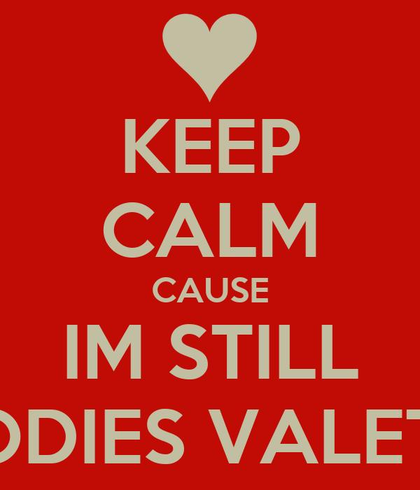 KEEP CALM CAUSE IM STILL NOBODIES VALETINE'S