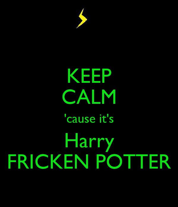 KEEP CALM 'cause it's Harry FRICKEN POTTER