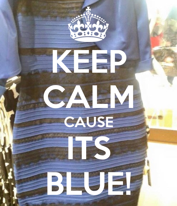 KEEP CALM CAUSE ITS BLUE!