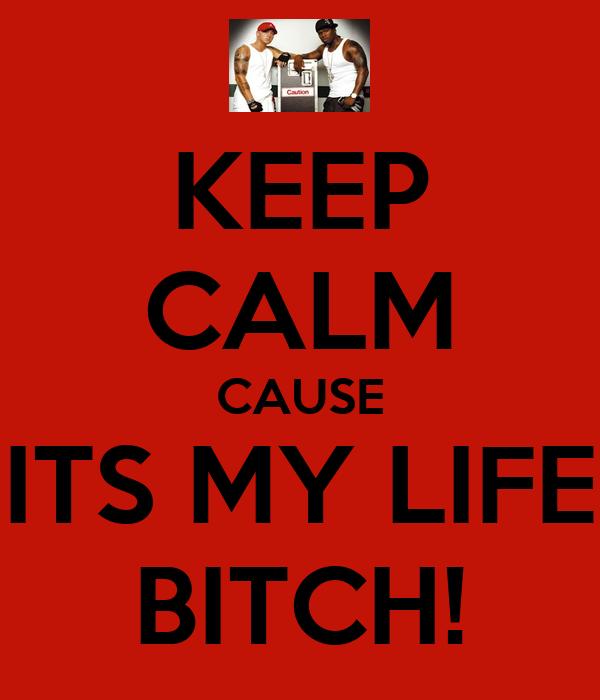 KEEP CALM CAUSE ITS MY LIFE BITCH!
