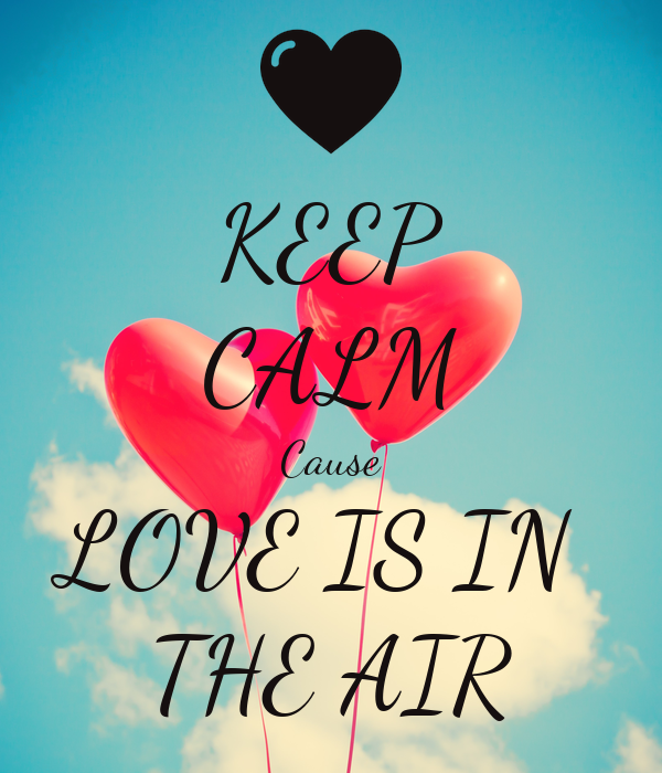 KEEP CALM Cause LOVE IS IN  THE AIR