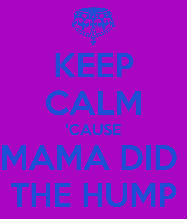 KEEP CALM 'CAUSE MAMA DID  THE HUMP
