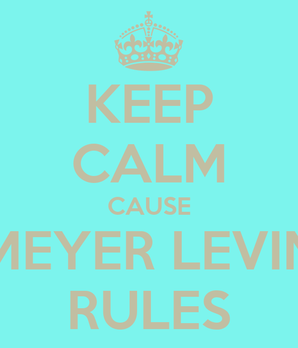 KEEP CALM CAUSE MEYER LEVIN RULES
